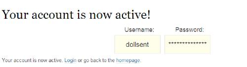 now active!