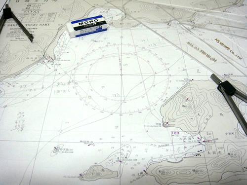 1級船舶の海図の勉強