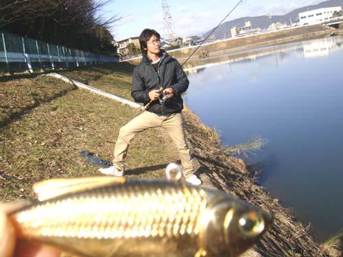 新堀川排水機場でバス釣り