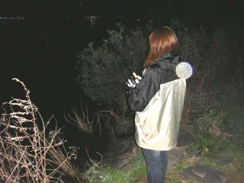 夜 釣り 琵琶湖
