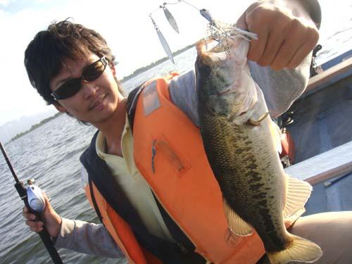 琵琶湖南湖でブラックバス釣