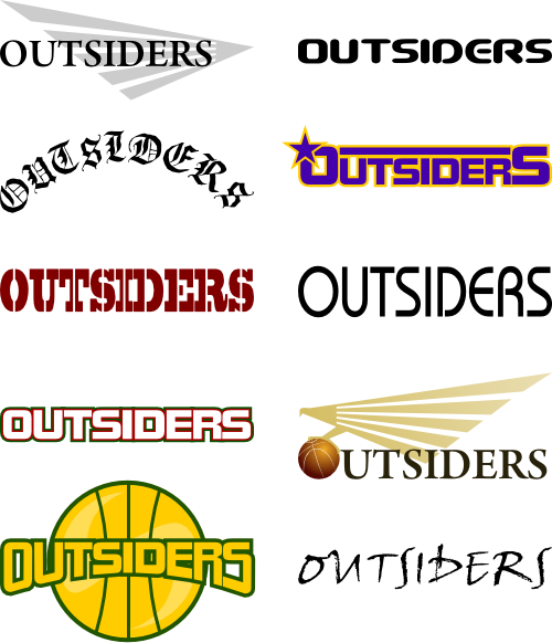 バスケットボールチームのロゴデザイン