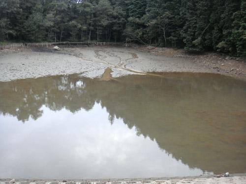 三つ池の水抜き