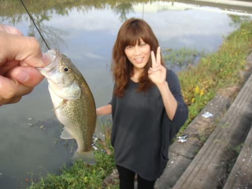 中江川でバス釣り