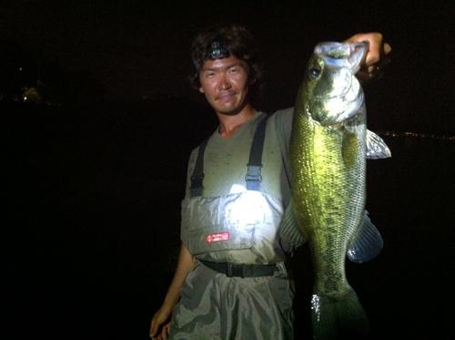 琵琶湖夜釣り