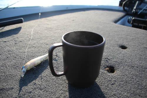 湖上でコーヒー