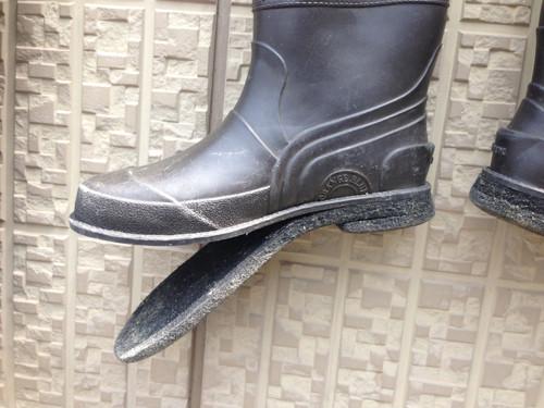 ウェーダーの靴底
