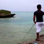 池間島で釣り