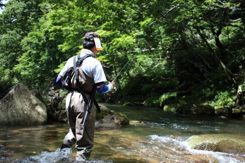 荘川の渓流釣り