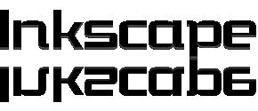 Inkscapeの地面に反射するロゴ