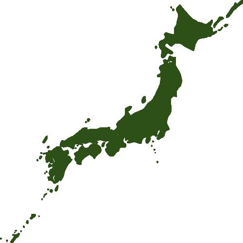 日本地図のシルエットのイラスト