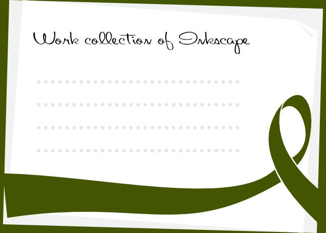 リボンのデザインのポストカード