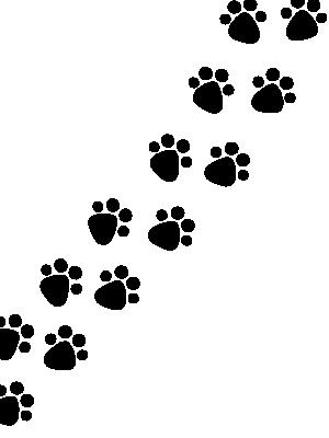 犬の足跡のイラストを使ったtwitterの背景