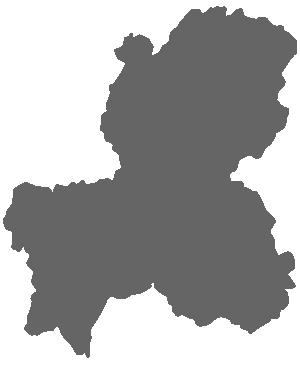 岐阜県の地図のシルエット