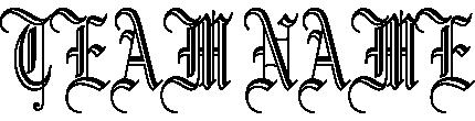 ギャング文字のチームロゴ