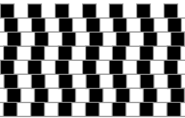 目の錯覚が起こる不思議な画像
