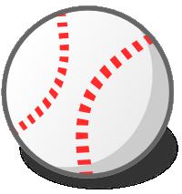 野球のボールのイラスト