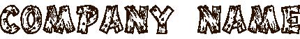 木で作ったロゴ
