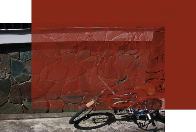 Inkscapeで写真をモノクロ透明に加工した作品