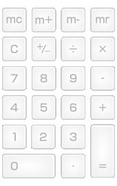 電卓のキーのイラスト