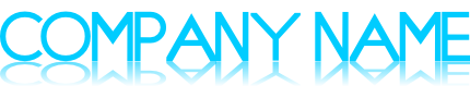 地面に反射するロゴ