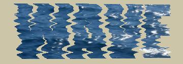 海の画像を使った文字