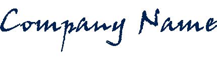 手書き風のロゴ