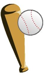 野球のバットとボールのイラスト
