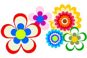 花のイラストの無料素材