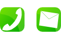 電話とメールのアイコン