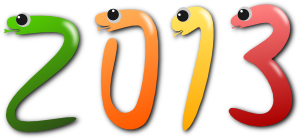 2013年 巳年のロゴ