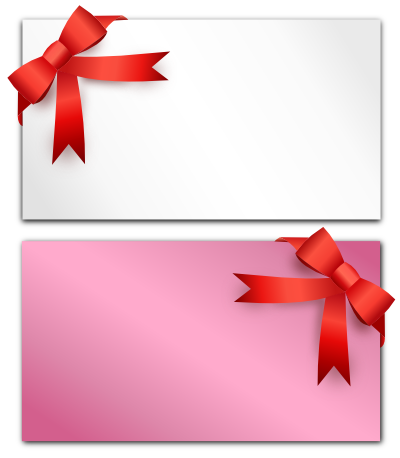 リボン付きの手紙のイラスト