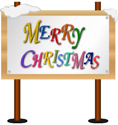 クリスマスの看板のイラスト
