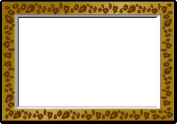 豹柄の写真の枠のイラスト
