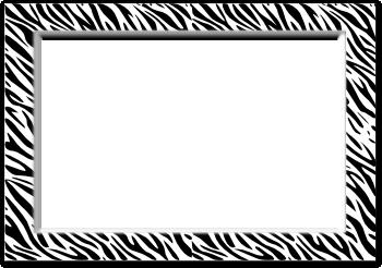 ゼブラ柄の写真の枠のイラスト