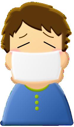 花粉症の男性のイラスト