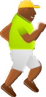 ランニングをする男性のイラスト
