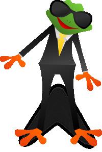カエルのキャラクター風イラスト