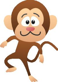 猿のキャラクター風イラスト