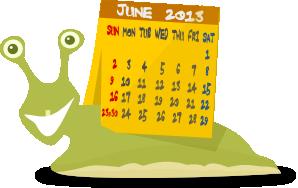 カタツムリのカレンダーのイラスト