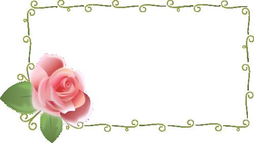 薔薇の枠のイラスト