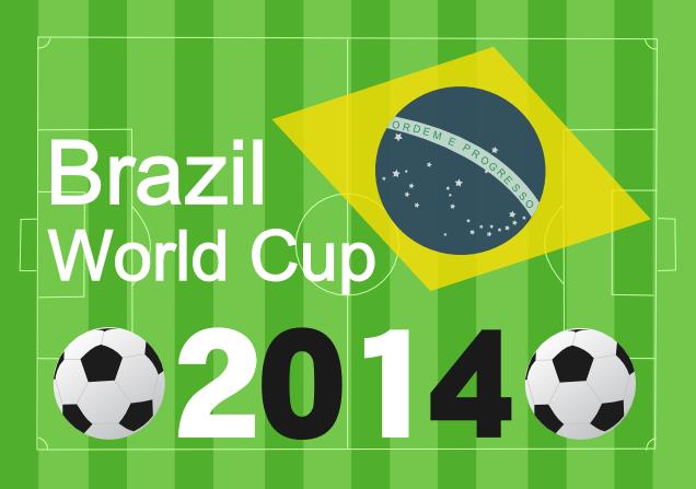 ブラジルワールドカップのポストカード