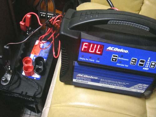 バッテリーの充電完了